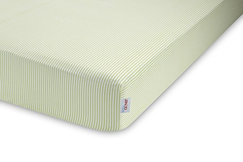GUND Babygund Stripes Sateen Crib Sheet, Stripes - Pistachio, 28'' By 52'' - 1