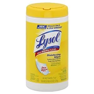 Lysol® Sanitizing Wipes, Citrus Scent, 80 Wipes