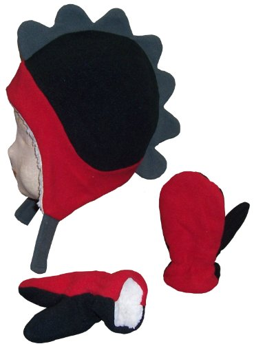 nice-caps-boys-soft-sherpa-lined-micro-fleece-dino-hat-and-mitten-set-18-36mos-red-black-charcoal-gr