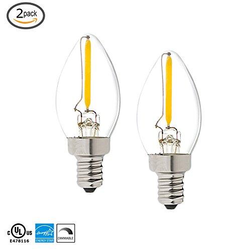 Light Blue™ C7 LED Night Light Bulb, 1W (12W) LED Vintage Light Bulb, 2 PACK (Nightlight Lightbulbs Blue compare prices)