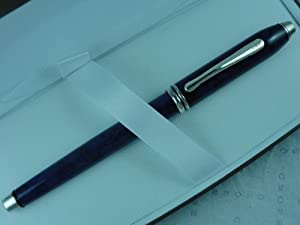 Cross Made in the USA Townsend Blue Marble and Sterling Silver Gel Ink Rollerball Pen .Very Rare Collectible Made in Lincoln Rhode Island, USA
