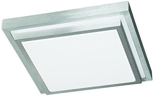 Action Deckenleuchte, 1-flammig, Serie Halden, 1 x LED, 15 W, Breite 30 cm, Höhe 9 cm, Tiefe 30 cm, Kelvin 3000, Lumen 1100, aluminium gebürstet 967201630300
