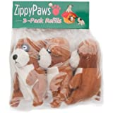 ZippyPaws Burrow Squeaky Meerkats Plush Dog Toys, Medium, 3-Pack