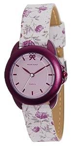 Naf Naf - N10102-015 - Emagnolia - Montre Femme - Quartz Analogique - Cadran Violet - Bracelet Tissu Rose