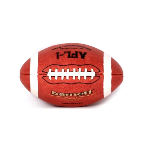 barnett AFL-1 american football ball, both match and pro, size junior, brown, leather