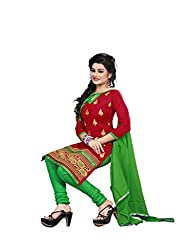 Shree Vardhman Synthetics Maroon Semi Cotton Top Straight Unstiched Salwar Suit Dress Material