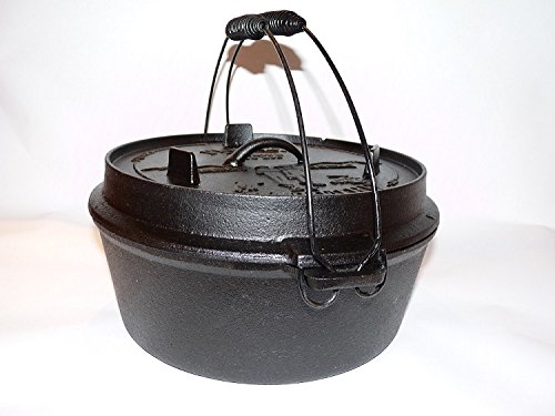 "I&O BBQ Dutch Oven ""Pioneer"" 9qt (ca7ltr) Gußeisentopf, Bräter, Feuertopf Lagerfeuertopf online kaufen"