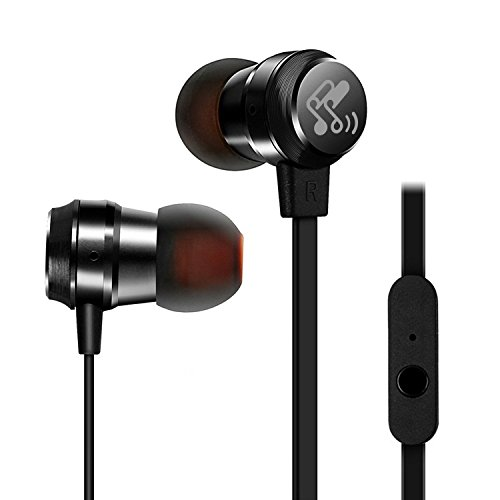 SoundPEATS-In-Ear-Headphones-Ergonomic-Comfort-Fit-Earphones-Stereo-Earbud-Headphones-with-Microphone-Noise-Cancelling-Metal-Housing-Tangle-Free-Flat-Cable-In-line-Control