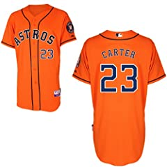Chris Carter Houston Astros Alternate Orange Authentic Cool Base Jersey by Majestic by Majestic