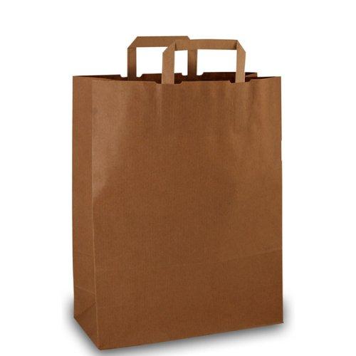 250-Papiertragetaschen-Papiertaschen-Tten-Papiertten-Tragetaschen-braun-22-11-x-28-cm