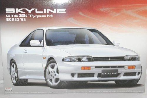 Nissan Skyline R33 GTS 25 Type M Coupe 1993-1998 Kit Bausatz 1/24 Aoshima Modell Auto mit individiuellem Wunschkennzeichen