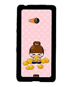 PRINTVISA Cute Girl Case Cover for Nokia Lumia 540::Microsoft Lumia 540