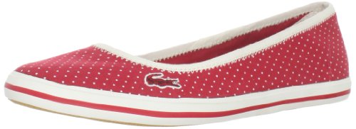 Women's Lacoste Marthe AP2 SPW Text 7 24SRW3394112 Dark Red Slip On Sneakers (Women's 6, Dark Red)