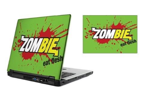 13,3 Zoll Laptop Vinyl Skin / Aufkleber - Zombie frisst Haut Design