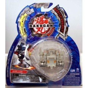 Bakugan - Mechtanium Surge - Mobile Assault - GREY AXELLOR - includes 1 Bakugan Mobile Assault, 1 Ability Card and 1 Metal Gate Card - MOC