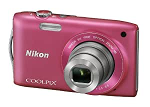 Nikon Coolpix S3300 Digitalkamera (16 Megapixel, 6-fach opt. Zoom, 6,7 cm (2,7 Zoll) Display, bildstabilisiert) pink