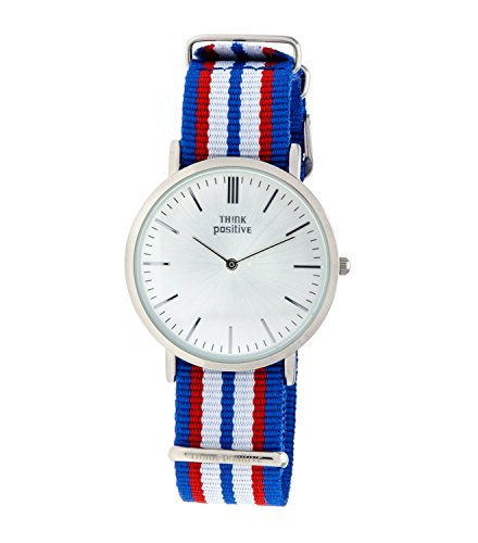 ladies-think-positiver-model-se-w92-watch-large-flat-steel-strap-of-cordora-color-blue-red-white