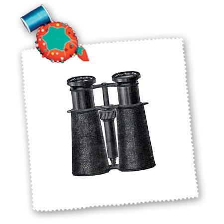 Qs_174144_4 Florene - Vintage Ii - Image Of Antique Binoculars In Black - Quilt Squares - 12X12 Inch Quilt Square