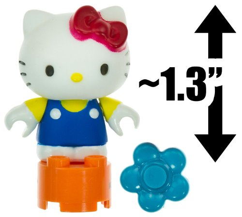 "Hello Kitty w/ a Flower ~1.3"" Mini-Figure: The World of Hello Kitty Mega Bloks Figure Series [06]"