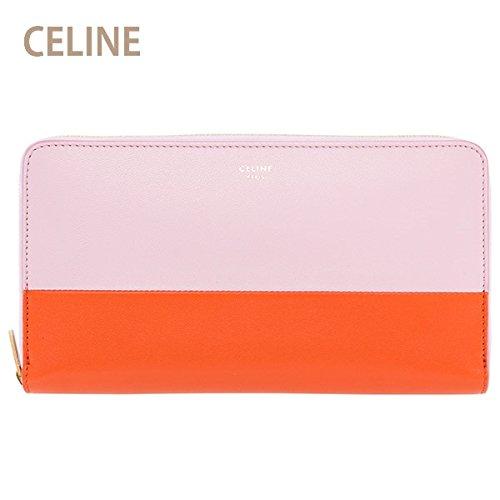 セリーヌ CELINE 財布 長財布 レディース ラウンドファスナー バイカラー ピンク/オレンジ 103983XTM 23PB
