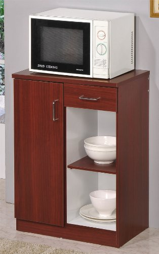 Kitchen Microwave Stand Cherry Finish front-540462