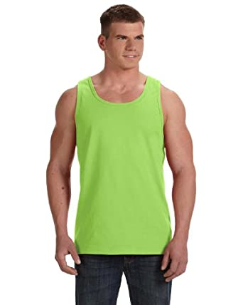 Fruit Of The Loom 39TK Adult Heavy Cotton HD&trade Tank Top - Neon Green - 'S