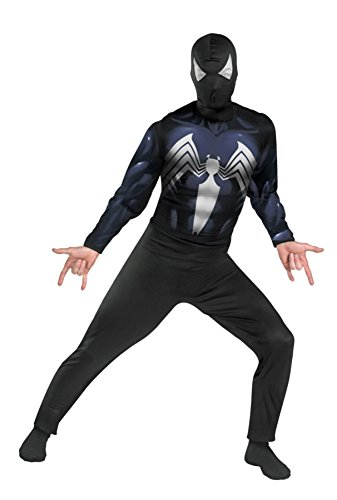 Disguise Mens Spiderman Black Suited Marvel Theme Party Halloween Costume