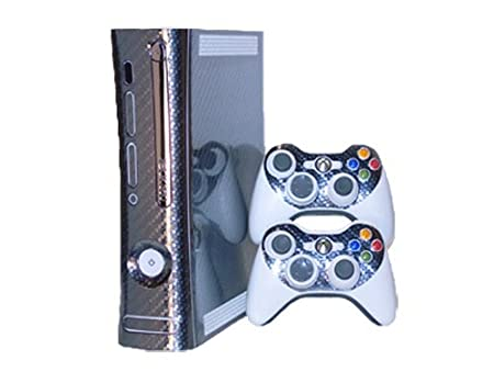 Xbox 360 Skin - NEW - CARBON FIBER system skins faceplate decal mod