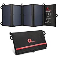 1byone 24W Foldable Solar Charger with 2...
