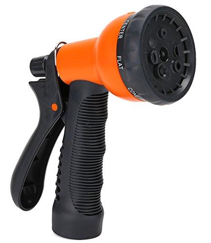 1 Best Recommended Garden Hose Nozzle Growgreen 8 Way High Pressure Sprayer Water Hose