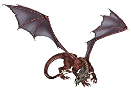 Wallmonkeys WM37379 Red Dragon Peel and Stick Wall Decals (18 in W x 13 in H)