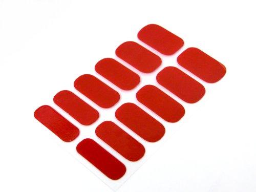簡単セルフネイルTOPコート不要ネイルシール ネイルパッチ ネイルステッカー ネイルフィルム ネイルラップ ラメ人気ワンカラー ビビッドレッド12枚