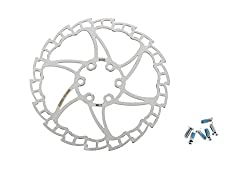 SCS S-Shape Mountain Bike MTB Cycling Disk Brake Rotor/6 Bolt/160mm/112g/Silver