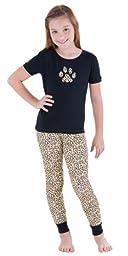 Cotton Jersey Leopard Print Pajamas for Girls, Girls 14