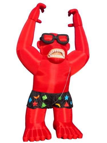 Torero Inflatables Giant Gorilla Inflatables with Harnessing, Red by Torero Inflatables