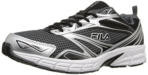 Fila Men's Royalty-M Running Shoe, Castlerock/Metallic Silver/Black, 10 M US
