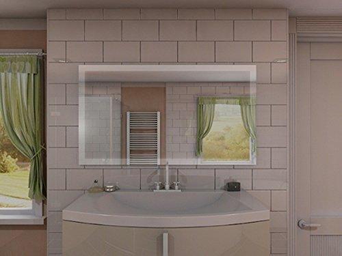 Badspiegel mit Beleuchtung New York M303L4: Design Spiegel für ...