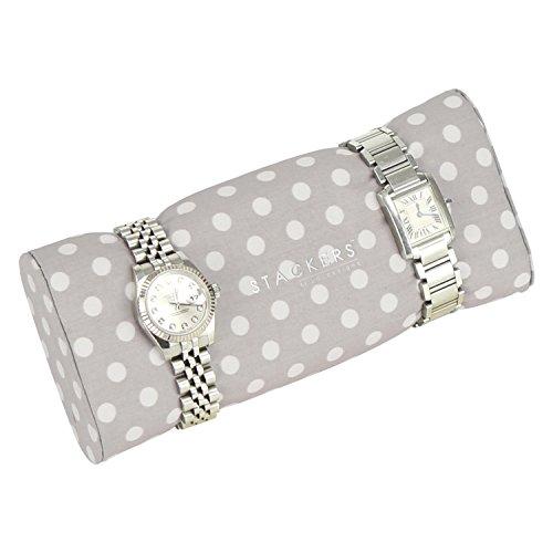 Stackers Jewellery Box | Duck Egg Blue & Gray Polka Dot Watch & Bracelet Pad Stacker Accessory