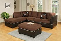 Big Sale Sectional Sofa Set Espresso By-cast W/chocolate Micro Fabric