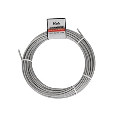 Koch A40124 1/8 by 50-Feet 7 by 7 Cable , Galvanized sourcing is Koch Industries