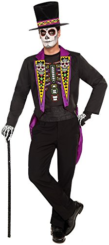 Forum Novelties Men's Day Of The Dead Formal Xl Costume