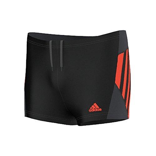 adidas Jungen Badeanzug Inspiration Boxer, Black/Semi Solar Red, 164, S22860
