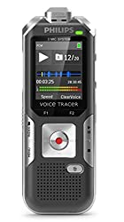 Philips DVT6000 Voice Tracer Digital Recorder with 3-Mic Auto Zoom Plus Black Voice Recorder