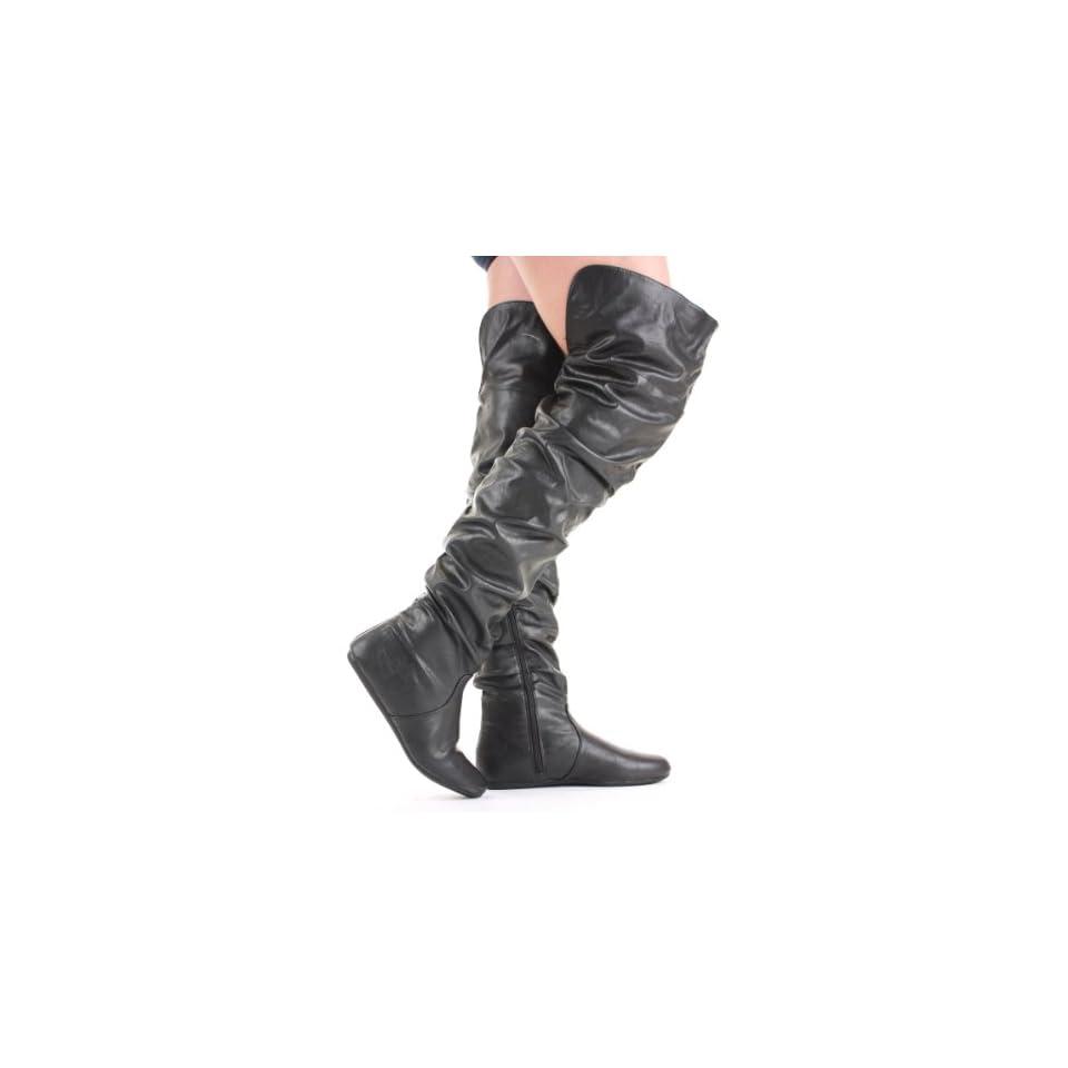 shoeFashionista Damen WinterStiefel Overknee Stiefel Schuhe