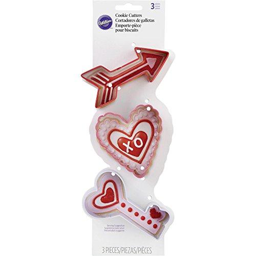 Wilton Metal Arrow Heart Key 3 Piece Cookie Cutter Set, Multicolor (Arrow Cookie Cutter compare prices)