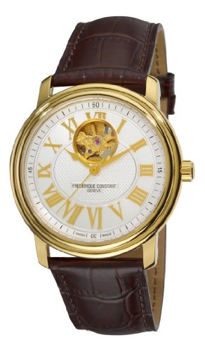 Frederique Constant Men's FC-310NM4P5 Persuasion Heart Beat Rosetone Case Brown Strap Watch