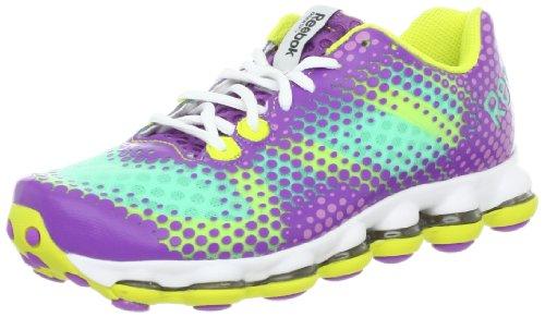 Reebok Women s Skycell DMX Run Running Shoe Purple Mint Berry Green 5 M US fe9d5ddd6