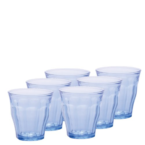 Duralex-Picardie-Marine-Glass-Tumbler-Set-of-6-775-oz-Blue
