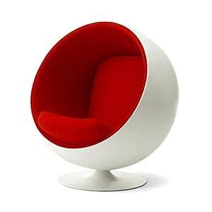 eero aarnio blanc rouge fauteuil boule design inspir cuisine maison. Black Bedroom Furniture Sets. Home Design Ideas