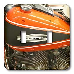Danita Delimont - Motorcycles - Wisconsin, Picturing Harley Davidson Museum motorcycle - US50 MDE0018 - Michael DeFreitas - Light Switch Covers - double toggle switch